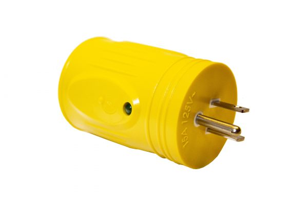 Straight Adapter, 15A 125V Male to 30A 125V Female